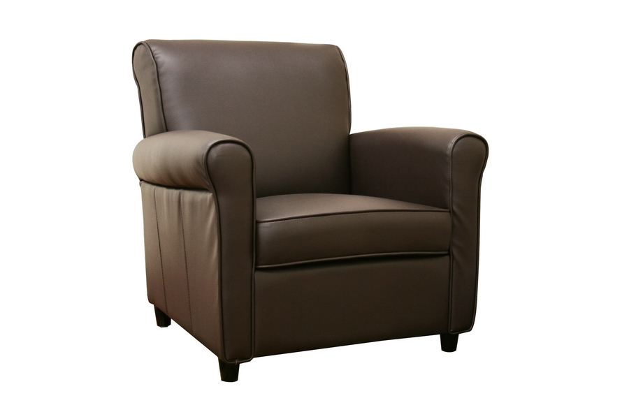 Jefferson Full Leather Club Chair in Brown
