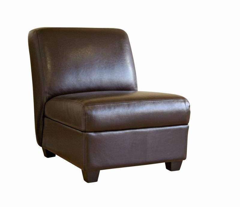 Armless Leather Chairs arthur brown armless club chair | interior express