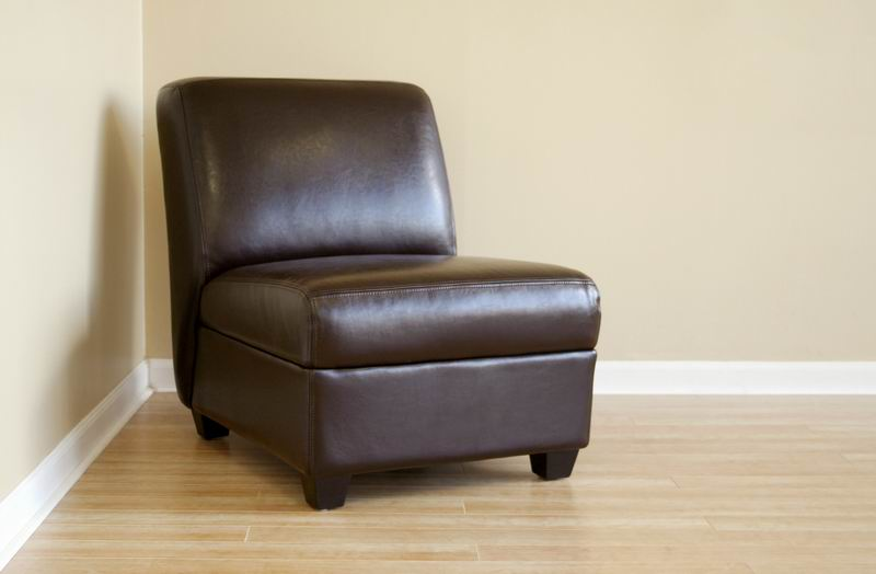... Arthur Full Leather Armless Club Chair ...