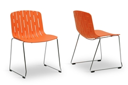 Orange Plastic Chair acrylic dining chairs | dining room furniture | interior express