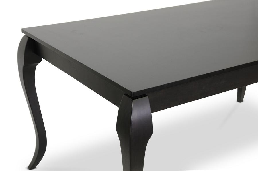 ... Baxton Studio Epperton Black Wood 7 Piece Modern Dining Set   IEDario  Dining Table +