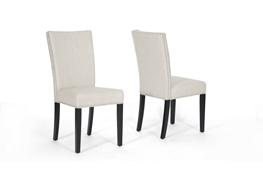 Vincent Beige Linen Modern Accent Chair Interior Express