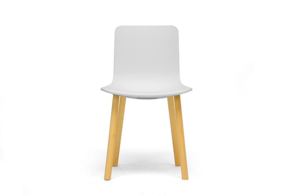 Baxton Studio Lyle White Plastic Modern Dining Chair Set