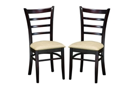 Baxton Studio Sparrow Brown Wood Modern Dining Chair Set