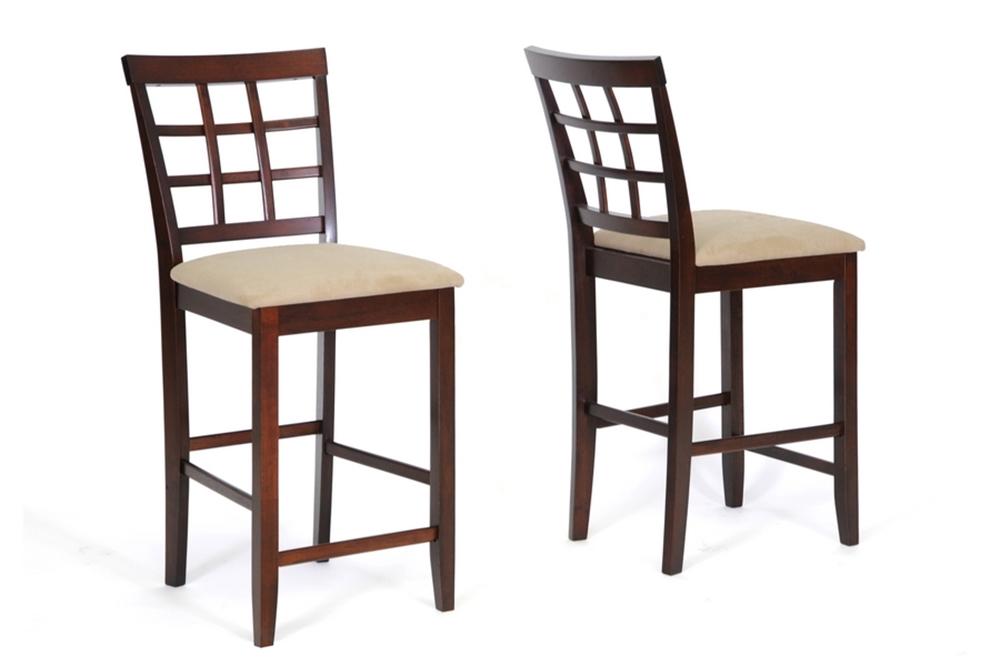 Baxton Studio Katelyn Modern Pub Table Set - 7 Piece Modern Dining ...