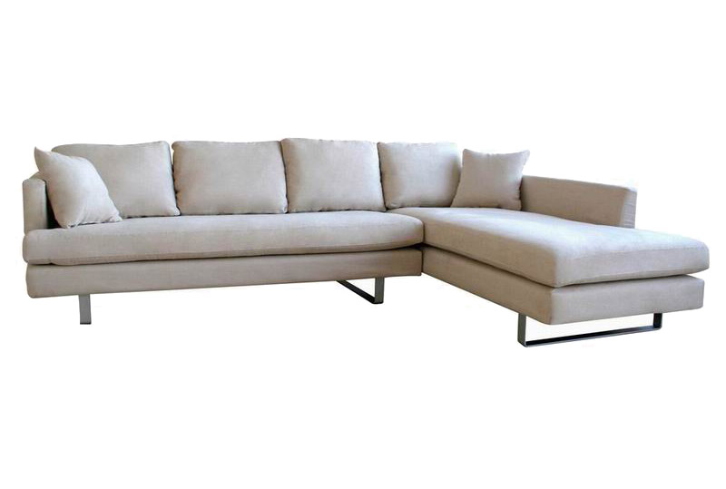 Sydney Brown Modern Contemporary Sectional Sofa With