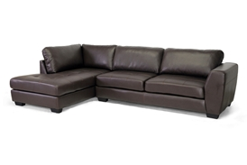 Baxton Studio Orland Brown Leather Modern Sectional Sofa Set with Left Facing Chaise Baxton Studio Orland Brown Leather Modern Sectional Sofa Set with Left Facing Chaise, BSIDS023-SEC-LTB01-Brown LFC