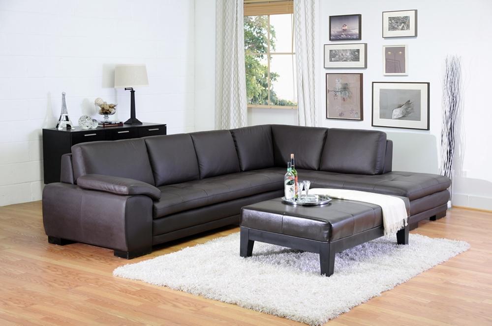 Wondrous Diana Brown Top Grain Leather Modern Sectional Sofa Beatyapartments Chair Design Images Beatyapartmentscom
