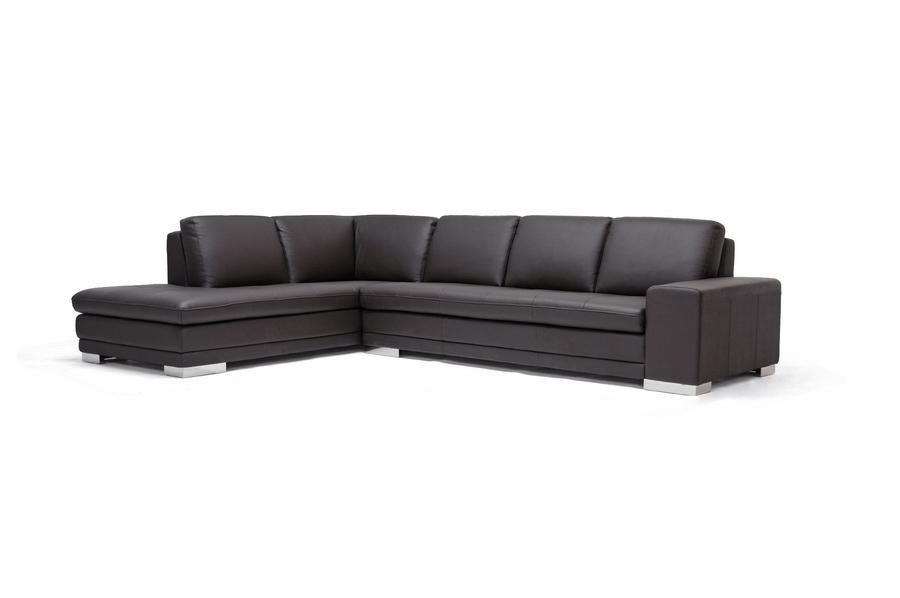 Callidora Dark Brown Leather Leather Match Sofa Sectional Reverse   IE766  Sofa/lying ...