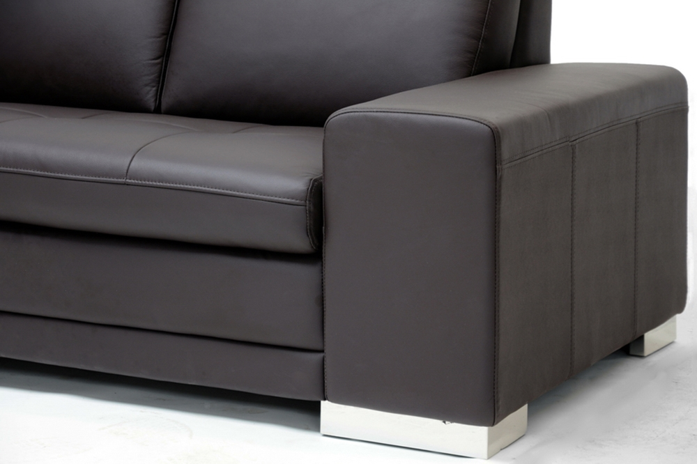 Callidora Brown Leather Sectional Sofa With Left Facing