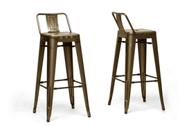 Baxton Studio French Industrial Modern Bar Stool in Bronze with Back Support  (Set of 2) Baxton Studio French Industrial Modern Bar Stool in Bronze with Back Support  (Set of 2), M-94115X-30-Bronze-PSTL (2), compare Baxton Studio French Industrial Modern Bar Stool in Bronze with Back Support  (Set of 2), best price on Baxton Studio French Industrial Modern Bar Stool in Bronze with Back Support  (Set of 2), discount Baxton Studio French Industrial Modern Bar Stool in Bronze with Back Support  (Set of 2), cheap Baxton Studio French Industrial Modern Bar Stool in Bronze with Back Support  (Set of 2)