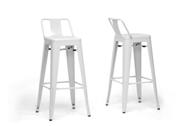 Baxton Studio French Industrial Modern Bar Stool in White with Back Support(Set of 2) Baxton Studio French Industrial Modern Bar Stool in White with Back Support(Set of 2), M-94115X-30-White-PSTL (2), compare Baxton Studio French Industrial Modern Bar Stool in White with Back Support(Set of 2), best price on Baxton Studio French Industrial Modern Bar Stool in White with Back Support(Set of 2), discount Baxton Studio French Industrial Modern Bar Stool in White with Back Support(Set of 2), cheap Baxton Studio French Industrial Modern Bar Stool in White with Back Support(Set of 2)