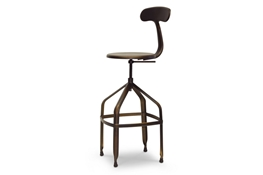 Baxton Studio Architects Industrial Bar Stool with Backrest in Antiqued Copper Architects Industrial Bar Stool with Backrest in Antiqued Copper, IEM-94137X-30AC-BScompare Architects Industrial Bar Stool with Backrest in Antiqued Copper, best price onArchitects Industrial Bar Stool with Backrest in Antiqued Copper, discount Architects Industrial Bar Stool with Backrest in Antiqued Copper, cheap Architects Industrial Bar Stool with Backrest in Antiqued Copper