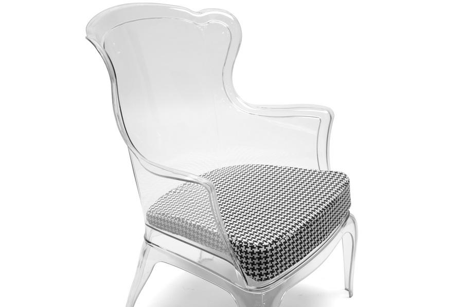 Baxton Studio Tasha Clear Polycarbonate Modern Accent