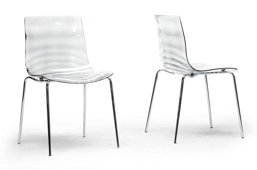 Baxton Studio Marisse Clear Plastic Modern Dining Chair (Set Of 2)   IEPC   ...