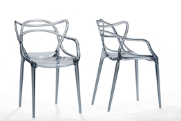 Baxton Studio Electron Smoked Plastic Contemporary Dining Chair (Set of 2) Baxton StudioElectron Smoked Plastic Contemporary Dining Chair, FurnitureDining Room Furniture