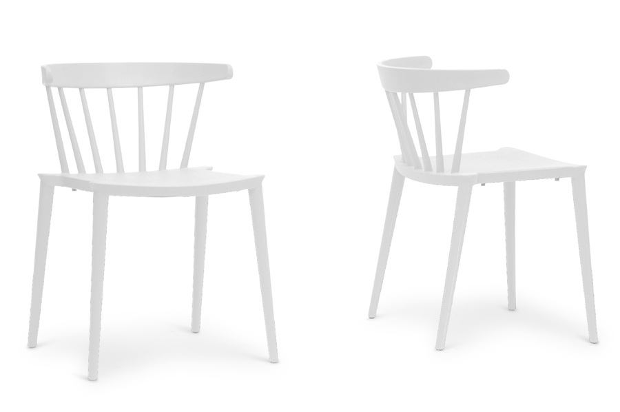 finchum white plastic stackable modern dining chair