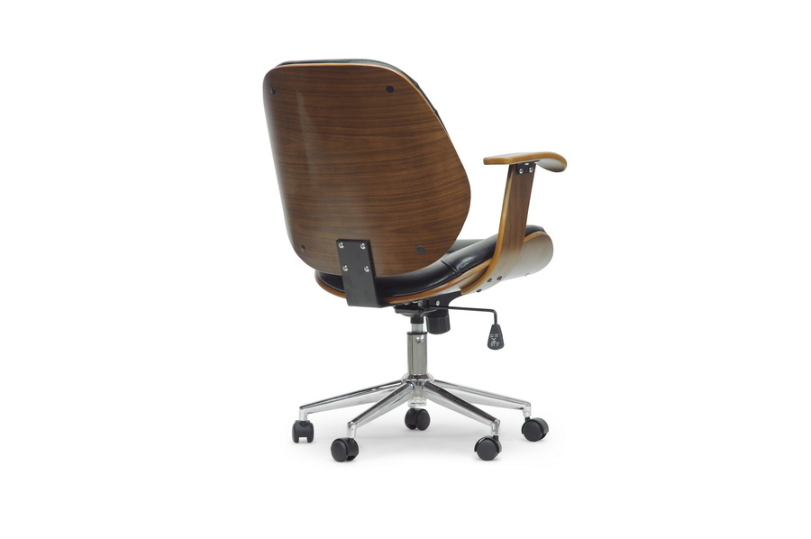 Baxton Studio Rathburn Walnut And Black Modern Office Chair Iesd 2235 5