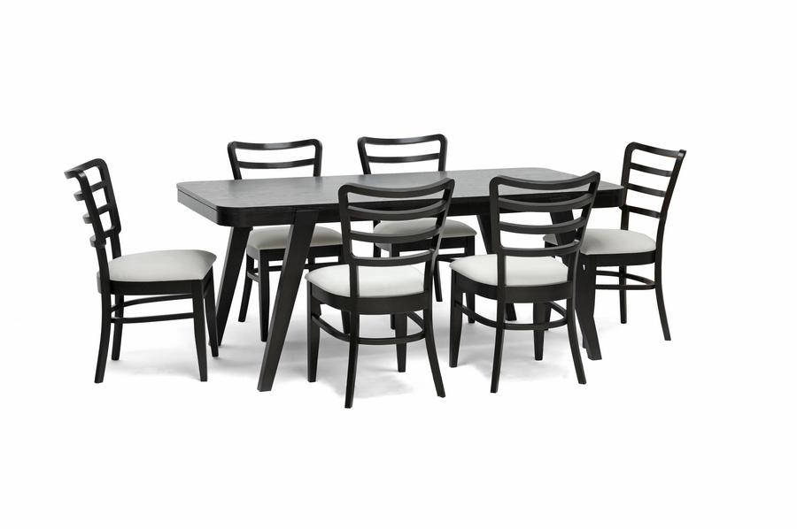 Coventa 7 piece dark brown modern dining set interior for 7 piece dining room sets under 1000