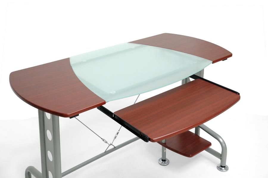 baxton studio dahan cherry modern computer desk with cpu stand ieaa20075 - Modern Computer Desk