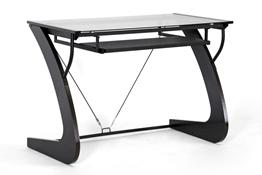 Baxton Studio Mott Dark Brown Wood Modern Desk With