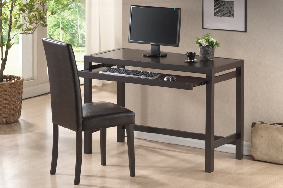 Modern Desk And Chair Part - 26: ... Baxton Studio Astoria Dark Brown Modern Desk And Chair Set -  IERT186-TBL-RT186 ...