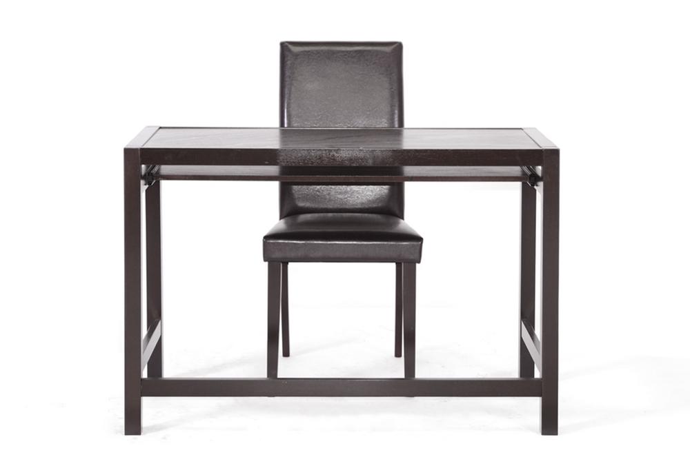 baxton studio astoria dark brown modern desk and chair set iert186 tbl rt186