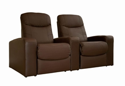 Home Theater Seating Cannes in Brown - Row of 2