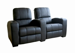 Broadway Home Theater Chairs in Black - Row of 2