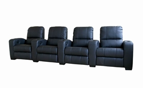 Broadway Home Theater Chairs in Black - Row of 4