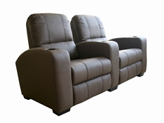 Broadway Home Theater Chairs in Brown - Row of 2