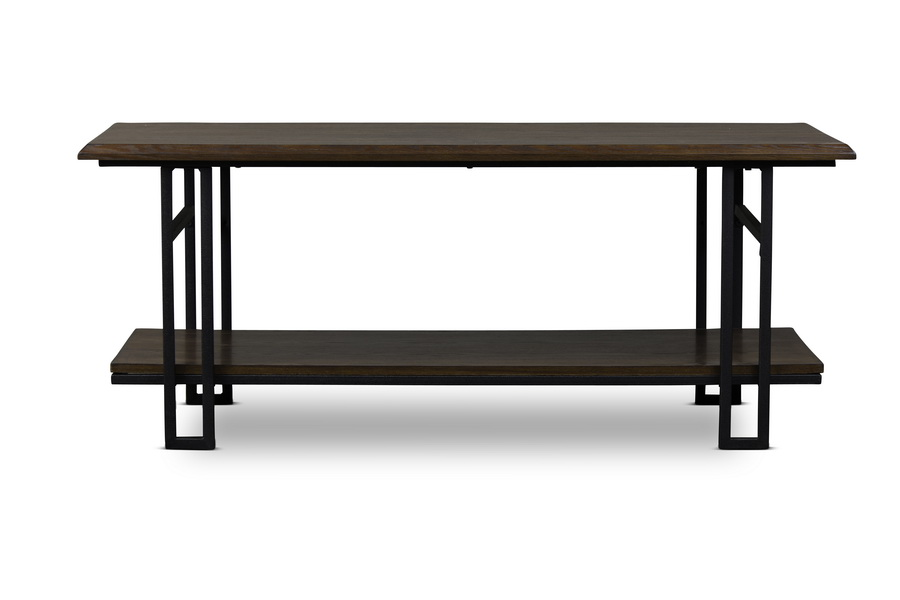 Baxton Studionewcastle Wood And Metal Coffee Table Interior Express