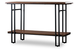 Baxton Studio Newcastle Wood and Metal Console Table Baxton StudioNewcastle Wood and Metal Console Table, FurnitureLiving Room Furniture