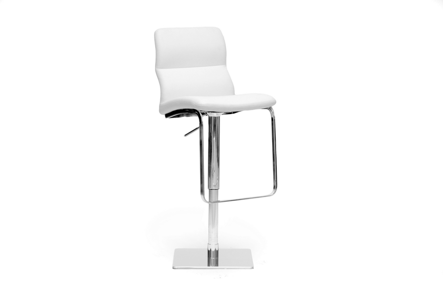 Baxton Studio Helsinki White Modern Bar Stool Helsinki White Modern Bar Stool, IEALC-2228-White-BS, best price on Helsinki White Modern Bar Stool, discount Helsinki White Modern Bar Stool, cheap Helsinki White Modern Bar Stool