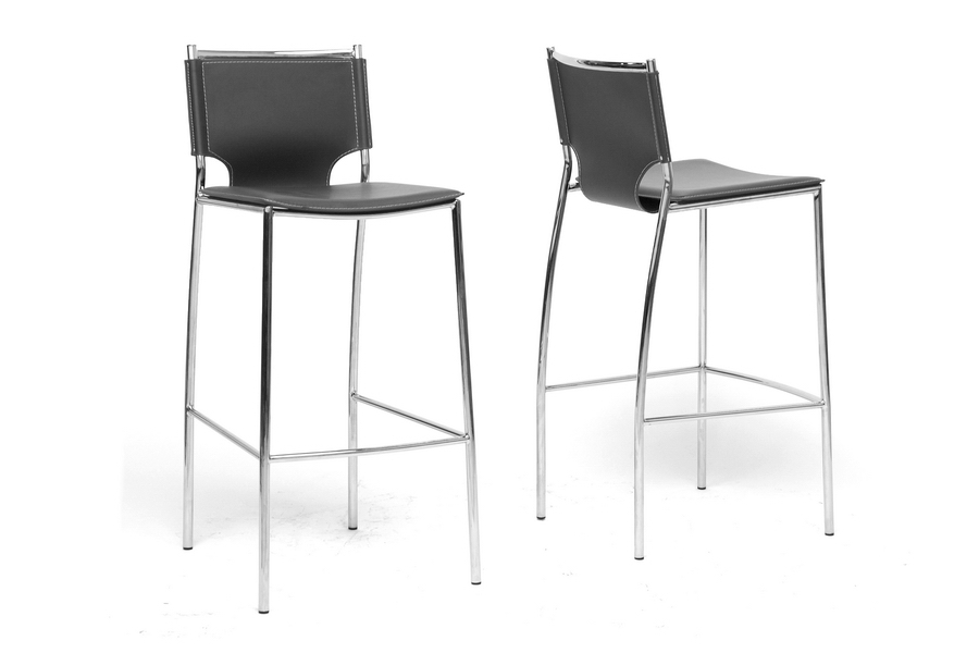 Baxton Studio Montclare Black Leather Modern Bar Stool (Set of 2) Baxton Studio Montclare Black Leather Modern Bar Stool, IEALC-1083A-75 Black, compare Baxton Studio Montclare Black Leather Modern Bar Stool, best price on Baxton Studio Montclare Black Leather Modern Bar Stool, discount Baxton Studio Montclare Black Leather Modern Bar Stool, cheap Baxton Studio Montclare Black Leather Modern Bar Stool