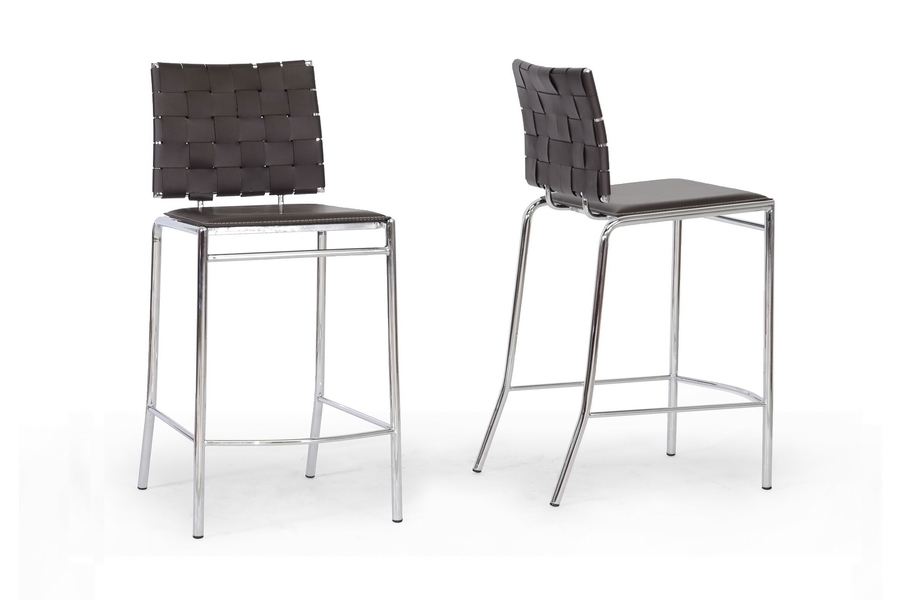 Baxton Studio Vittoria Brown Leather Modern Counter Stool (Set of 2) Baxton Studio Vittoria Brown Leather Modern Counter Stool, IEALC-1866B-65 Brown, compare Baxton Studio Vittoria Brown Leather Modern Counter Stool, best price on Baxton Studio Vittoria Brown Leather Modern Counter Stool, discount Baxton Studio Vittoria Brown Leather Modern Counter Stool, cheap Baxton Studio Vittoria Brown Leather Modern Counter Stool