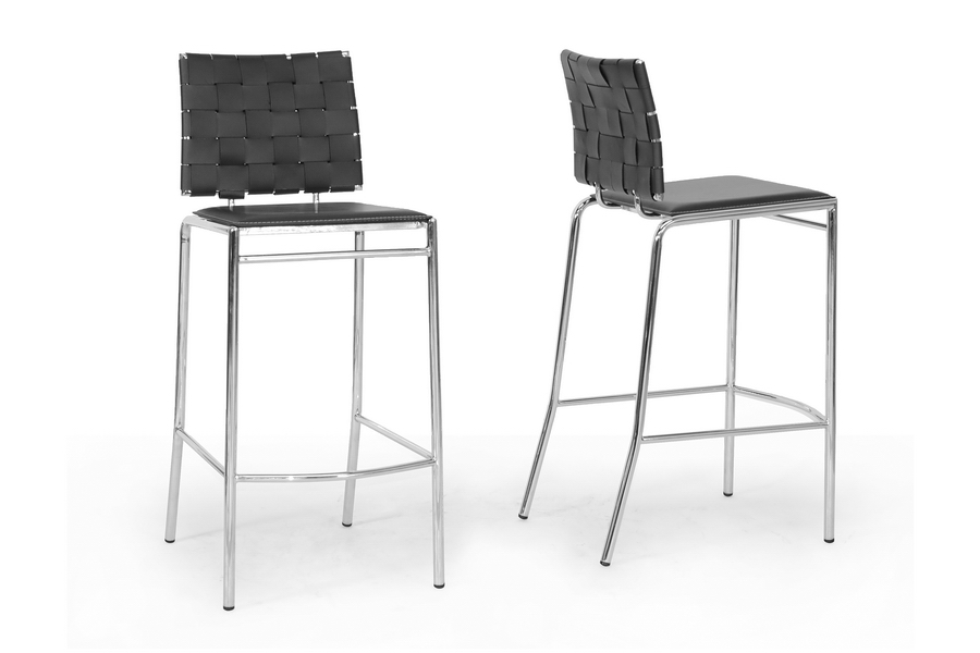 Baxton Studio Vittoria Black Leather Modern Bar Stool (Set of 2) Baxton Studio Vittoria Black Leather Modern Bar Stool, IEALC-1866B-75 Black, compare Baxton Studio Vittoria Black Leather Modern Bar Stool, best price on Baxton Studio Vittoria Black Leather Modern Bar Stool, discount Baxton Studio Vittoria Black Leather Modern Bar Stool, cheap Baxton Studio Vittoria Black Leather Modern Bar Stool
