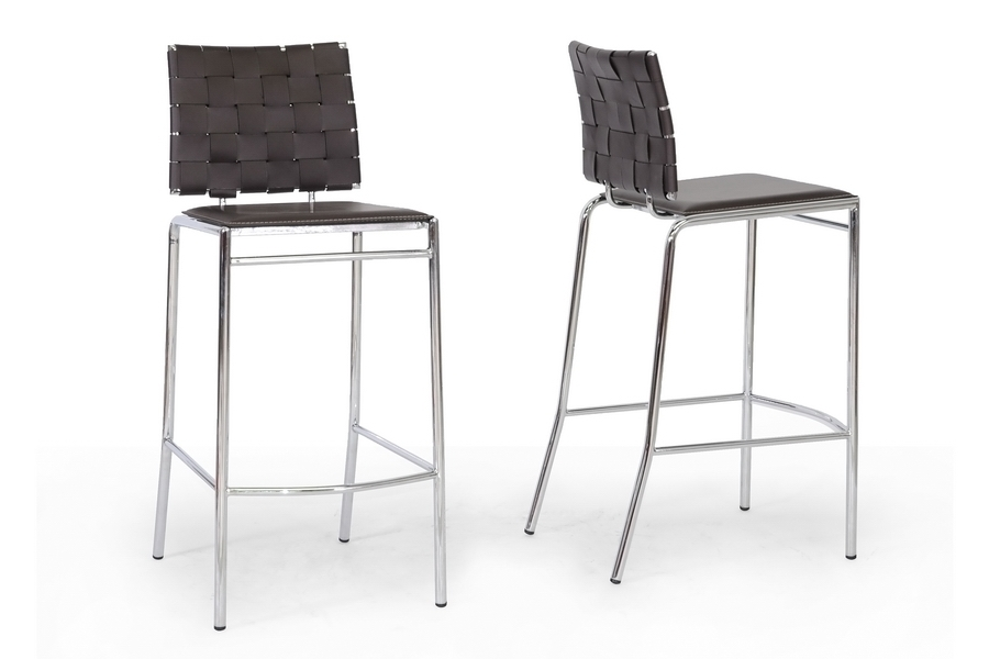 Baxton Studio Vittoria Brown Leather Modern Bar Stool (Set of 2) Baxton Studio Vittoria Brown Leather Modern Bar Stool, IEALC-1866B-75 Brown, compare Baxton Studio Vittoria Brown Leather Modern Bar Stool, best price on Baxton Studio Vittoria Brown Leather Modern Bar Stool, discount Baxton Studio Vittoria Brown Leather Modern Bar Stool, cheap Baxton Studio Vittoria Brown Leather Modern Bar Stool