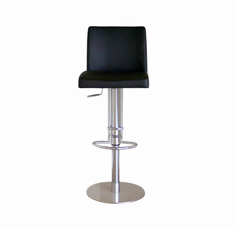 Bar Stool-Adjustable Height-Marcus Black Leather