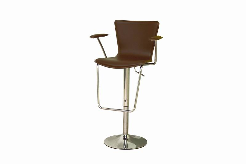 Bar Stool- Metro Brown Height Adjustable Swivel Bar Stool