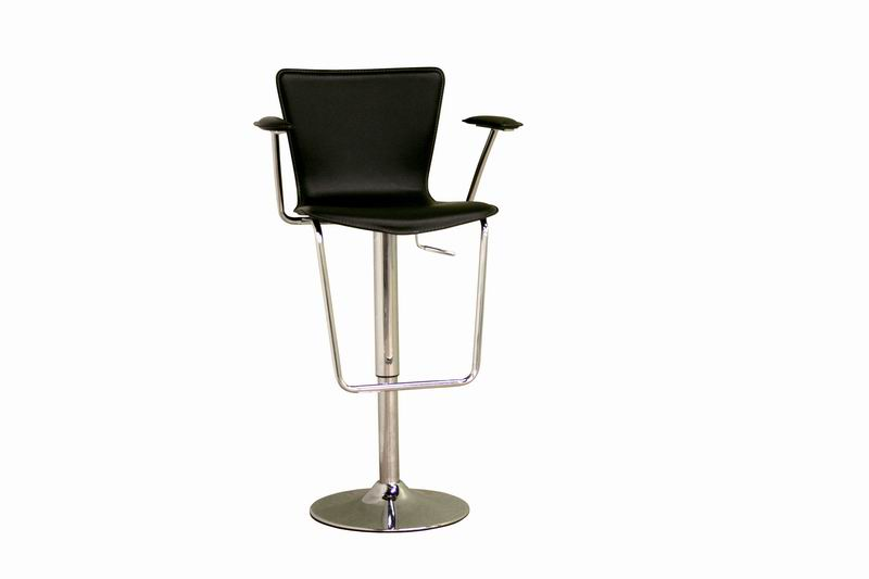 Bar Stool- Metro Black Height Adjustable Swivel Bar Stool