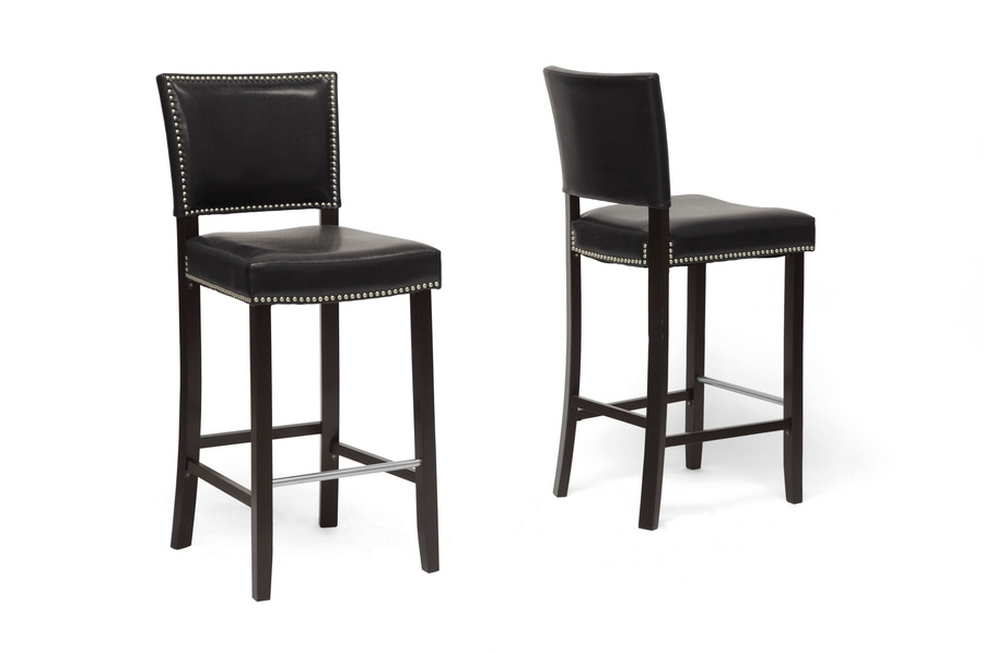 Baxton Studio Aries Black Modern Bar Stool with Nail Head Trim Aries Black Modern Bar Stool with Nail Head Trim, BBT5112 Bar Stool-Black compare Aries Black Modern Bar Stool with Nail Head Trim, discount Aries Black Modern Bar Stool with Nail Head Trim, cheap Aries Black Modern Bar Stool with Nail Head Trim