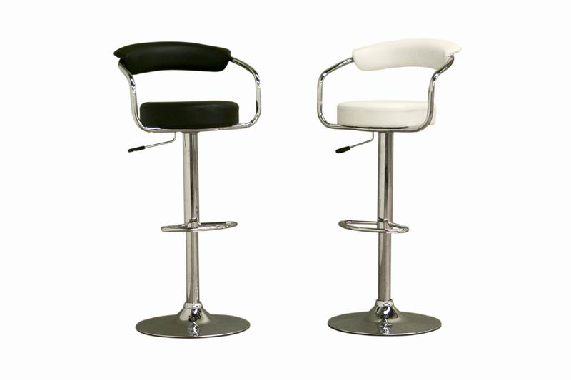 Omicron Retro Black or White Adjustable Swivel Bar Stool (set of 2)