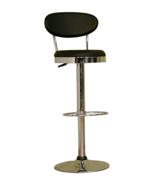 Aden Black Adjustable Barstool