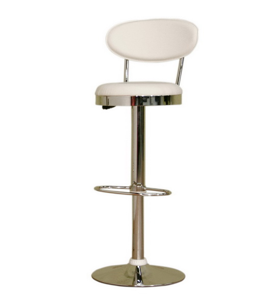 Aden White Adjustable Barstool