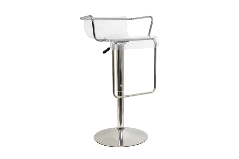 Russell Chrome Adjustable Barstool