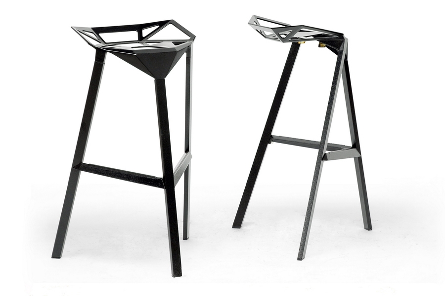 Baxton Studio Kaysa Black Aluminum Modern Bar Stool (Set of 2) Baxton Studio Kaysa Black Aluminum Modern Bar Stool, IEBS-363-Black, compare Baxton Studio Kaysa Black Aluminum Modern Bar Stool, best price on Baxton Studio Kaysa Black Aluminum Modern Bar Stool, discount Baxton Studio Kaysa Black Aluminum Modern Bar Stool, cheap Baxton Studio Kaysa Black Aluminum Modern Bar Stool