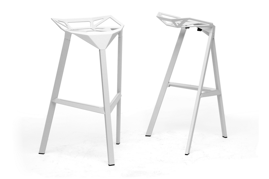 Baxton Studio Kaysa White Aluminum Modern Bar Stool (Set of 2) Baxton Studio Kaysa White Aluminum Modern Bar Stool, IEBS-363-White, compare Baxton Studio Kaysa White Aluminum Modern Bar Stool, best price on Baxton Studio Kaysa White Aluminum Modern Bar Stool, discount Baxton Studio Kaysa White Aluminum Modern Bar Stool, cheap Baxton Studio Kaysa White Aluminum Modern Bar Stool
