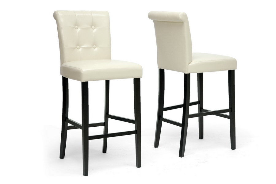 Baxton Studio Torrington Cream Modern Bar Stool (Set of 2) Baxton Studio Torrington Cream Modern Bar Stool (Set of 2), BSCH2-Cream-PSTL (2)