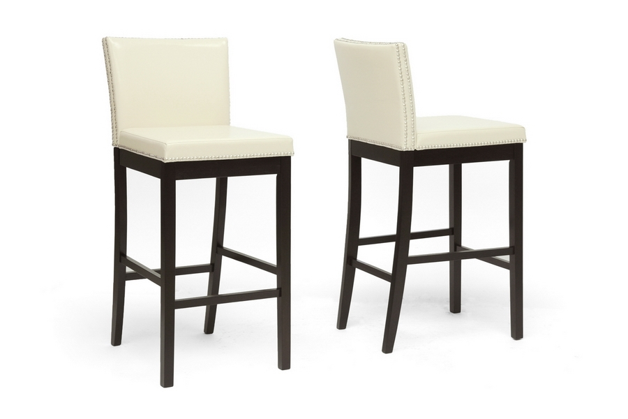 Baxton Studio Graymoor Cream Modern Bar Stool (Set of 2) Baxton Studio Graymoor Cream Modern Bar Stool (Set of 2), BSCH3-Cream-PSTL  (2)